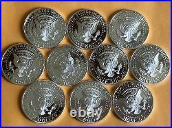 2009 S Silver Kennedy Half Dollar Cameo Gem Proof 1/2 Roll (10) High Grade Coins
