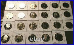 2010-2020 PDSS U. S. Mint UNC/UDC Kennedy (29) Half Dollar Proof Coin Set Silver