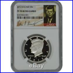 2012-S Kennedy NGC PF70 Ultra Cameo Silver Half Dollar Coin