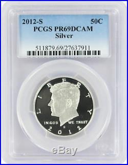 2012-S Silver Kennedy Half PR69DCAM PCGS Proof 69 Deep Cameo