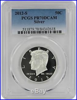2012-S Silver Kennedy Half PR70DCAM PCGS Proof 70 Deep Cameo 70