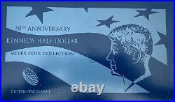 2014 50TH Anniversary Kennedy Half Dollar Silver 4 Coin Set With Box & COA
