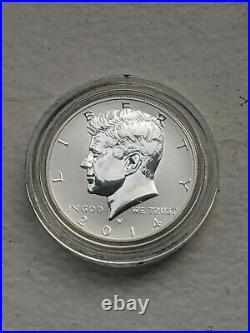 2014 50th ANNIVERSARY KENNEDY HALF DOLLAR SILVER FOUR COIN SET IN BOX WITH COA