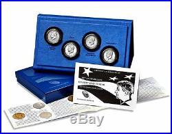 2014 50th Anniversary Kennedy JFK Half-Dollar SILVER 4-Coin Set