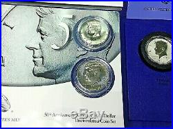 2014 JFK Kennedy Half Dollar 50th Ann. Silver P-D-S-W 4 Coin Set + P-D UNC. SET