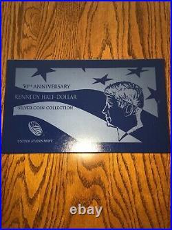 2014 JFK Kennedy Half Dollar 50th Anniversary Silver PDSW 4 Coin Set OGP Nice