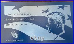 2014 Kennedy 50th Anniversary 4 Coin Silver Half Dollar set, original box, COA