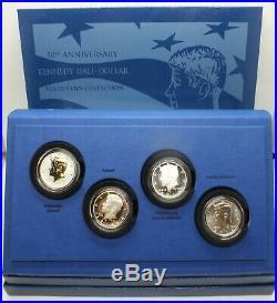 2014 Kennedy 50th Anniversary Silver Half Dollar Coin Set OGP Box & COA MA278