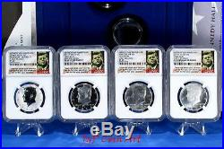 2014 Kennedy Half Dollar 4 Coin Silver Set-ngc Pf69-sp69 Early Release