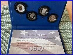 2014 Kennedy Half Dollar 50th Anniversary 4 Coin Set Ogp Stunningly Beautiful