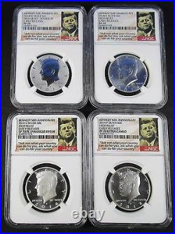 2014 Kennedy Silver 50th Anniv. High Relief Early Releases NGC PF70 SP70 PL
