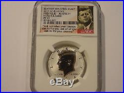 2014 Kennedy half dollar set 50th anniversary ngc 70 PL early release