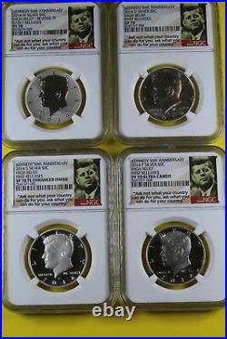 2014 PF70 50th Anniversary Silver Kennedy Half Dollar Set WithOGP & COA