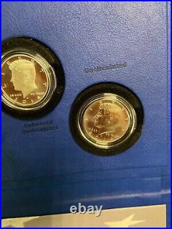 2014 P D S W Kennedy 50th Anniversary 4 Coin Set 90% Silver Half Dollars