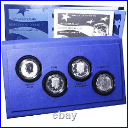 2014 P D S W Kennedy 50th Anniversary 4 Coin Set 90% Silver Half Dollars OGP