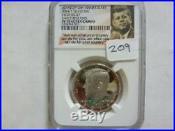 2014 P. D. S. W. Set 50th Anniversary High Relief Kennedy Half Dollar NGC 70