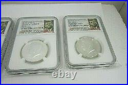 2014 SILVER Kennedy 50th Anniversary HIGH RELIEF 4 coins SP/ PF 70 NGC