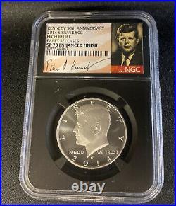 2014 W P D S SILVER Kennedy 50¢ Half Dollar 50th Anniversary Set NGC PF 70
