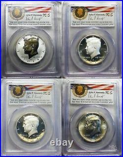 2014 W P D S SILVER Kennedy 50¢ Half Dollar 50th Anniversary Set PCGS PR70 MS70