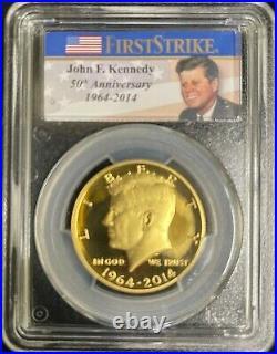 2014 w Kennedy Gold Half Dollar 3/4 Troy oz (. 9999) PCGS PR 70 DCAM First Strike