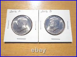 2016 P D S S Silver & Clad Proof Kennedy Half Dollar 4 Coin Lot Set PDSS