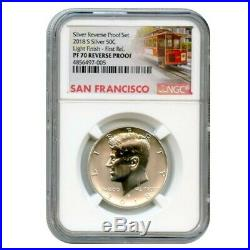 2018 S Silver Reverse Kennedy Light Finish Ngc Pf70 First Releases 4856497-005