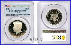 2020 S Silver Kennedy Half Dollar 50c Pcgs Pr70dcam First Day Of Issue 137