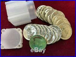 (20) 1964 Kennedy Proof Silver Halves 1 Roll 90% Silver