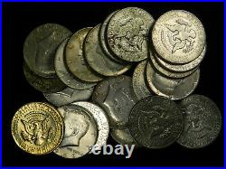 20 Coin Lot of 40% Silver 1965-1969 Kennedy Half Dollars, Choose How Many Lots