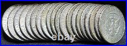 20 Coin Roll Lot Of 1965-1969 40% Silver USA Made Kennedy $10 FV Half Dollars