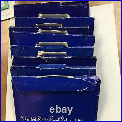 25 1968 US MINT PROOF SET with 40% silver Kennedy half dollar wholesale lot