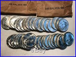 2 BU Roll Of 1964 Kennedy Half Dollars (40) Uncirculated 90% Silver Coins