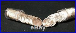 2 ROLLS 1964 KENNEDY SILVER Half DOllars 50c BU 40 coins $20 Face Free Ship