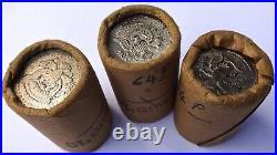 3 Orig Bank Wrap Rolls Kennedy Silver Half Dollar 1964 Unc