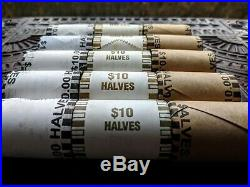 3 THREE SILVER HALF DOLLAR COIN ROLL 90% Silver Kennedy/Franklin/Liberty Coins