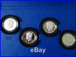 50th Anniversary Kennedy 2014 P D S W Half Dollar 90% Silver 4 Coin Set