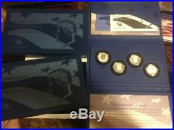 50th Anniversary Kennedy 2014 P D S W Half Dollar 90% Silver 4 Coin Set NIB