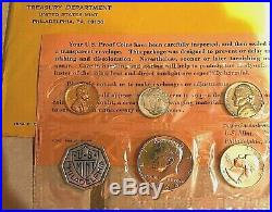 (5) 1964 U. S. Proof Sets-Silver Kennedy Half, Dime & Quarter Silver-Excellent