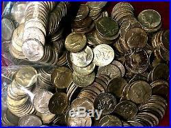 5+ pounds US Silver Kennedy Half Dollars BU to EF/XF 10 Rolls $100 Face Nice
