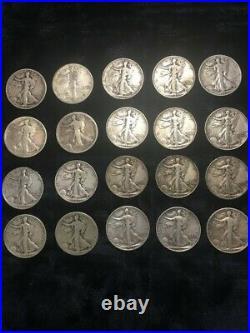 5 rolls (100) 90% silver Half Dollars 1 Liberty, 3 Franklin & one 64 Kennedy