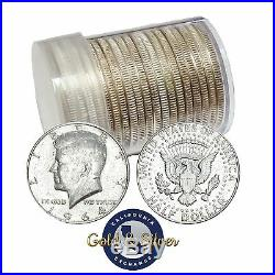 90% Silver 1964 Kennedy Half Dollars Roll of 20 $10 Face Value (Circulated)