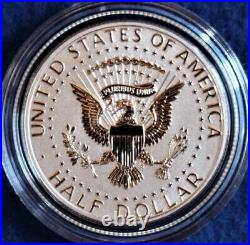 90% Silver 2014 Kennedy Half Dollar 50th Anniversary 4 Coin Set Complete