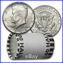 90% Silver Kennedy Half Dollar 20-Coin Roll Avg Circ (P & D) SKU #5298