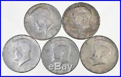 AU/BU A Unc 1964 $10 Face 90% Silver Kennedy Half Dollar Junk Bullion Roll Lot