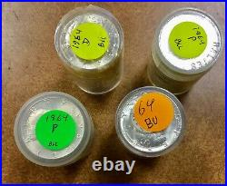 BU Roll of 20 1964 Kennedy Half Dollar 90% Silver Coins P or D available