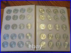Beautiful Complete Bu Kennedy Half Dollar Set 1964-2021 P&d Dansco Album