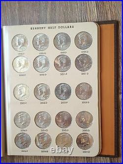 Complete Set 96 Halves Dansco Kennedy Half Dollar Collection 1964-2014 + 2015