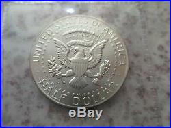 Daniel Carr 1963 D Kennedy Half Overstrike High Grade 90% Silver Mintage 223