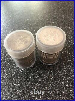 FULL DATES 2 Rolls Of 20 $10 Face Value each90% Silver 1964 Kennedy Half Dollars