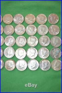 Fifty (50) 90% Silver 1964 Kennedy Half Dollar Coins Lot